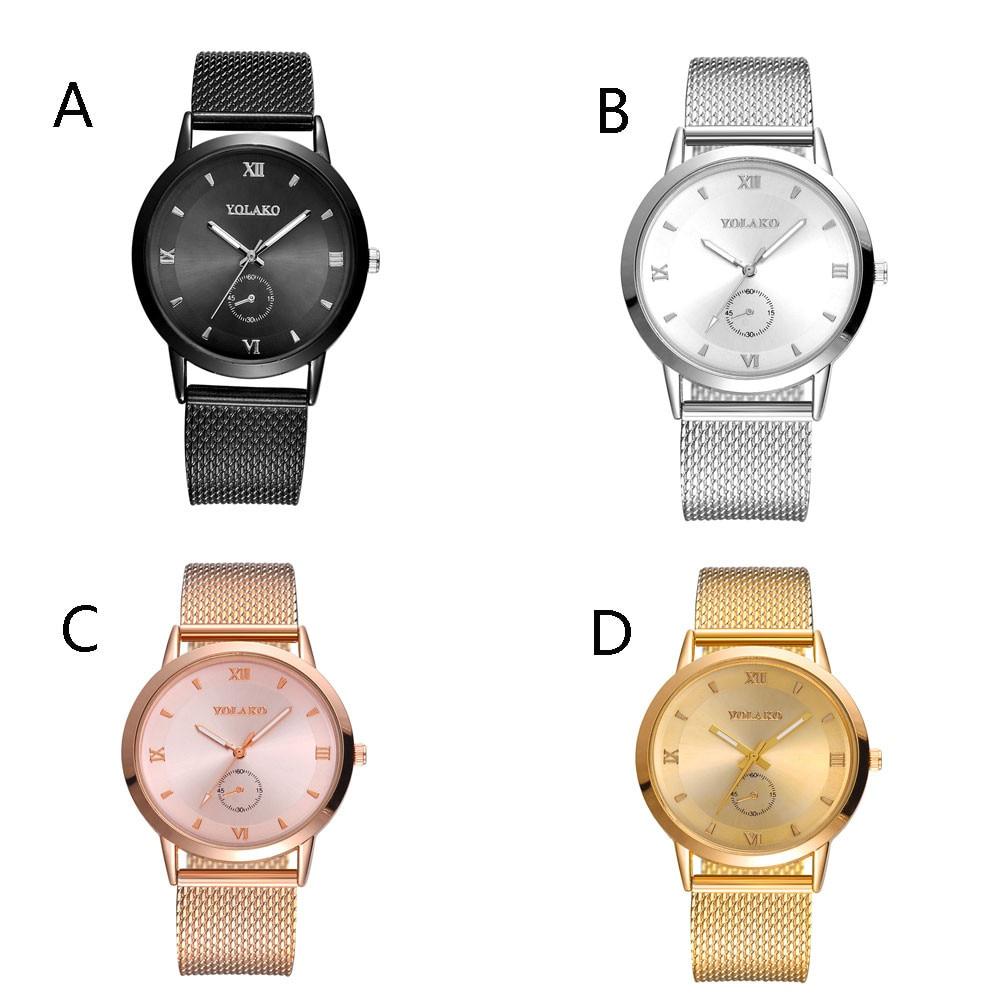 Wrist Watch For Men Women Rose Gold Glass Mirror Quartz Analog Fashion High  Hardness Mesh Belt Watches Dropship F412 847ede7975