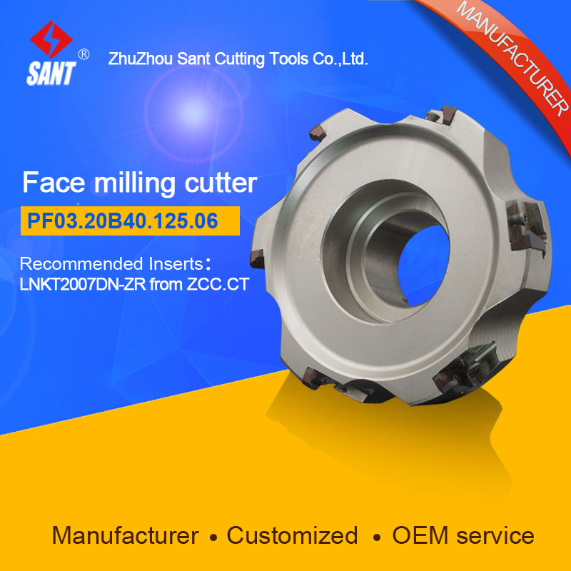 Refer to FMP03-125-B40-LN20-06,Zhuzhou Sant Face Milling Cutter PF03.20B40.125.06 for carbide Inserts LNKT2007DN-ZR yw1 4160511 zhuzhou zccct cemented carbide 30pcs box milling machine clip blade square face milling cutter for stainless steel