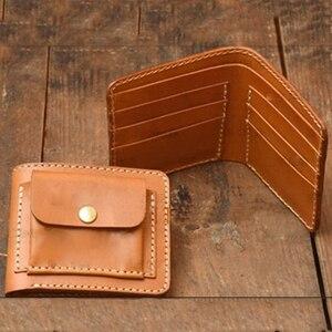 Сделай Сам Кожа ремесло 110x95x25 мм Мужской сложенный кошелек сумка для монет Карманный держатель для карт нож прессформа для резки штампы руч...