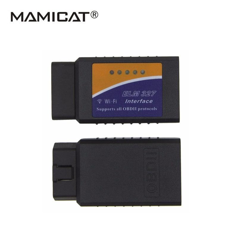 PIC18F25K80 Chip ELM327 WIFI Auto Diagnostic Tool ELM 327 V1.5 WIFI OBD2 Scanner OBD Code Reader V1.5 OBD OBDII wifi Scan