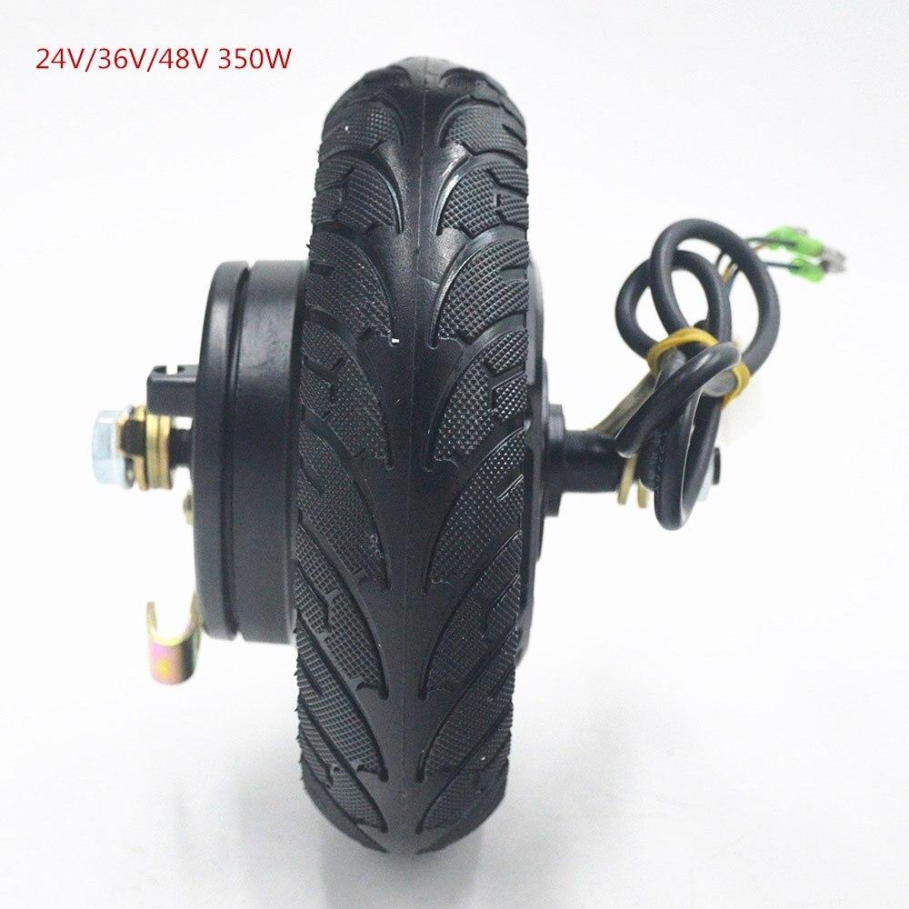 Motor elétrico 24 v 36 v 48 v da roda do cubo do trotinette 350 w dc sem escova roda do motor da roda do trotinette