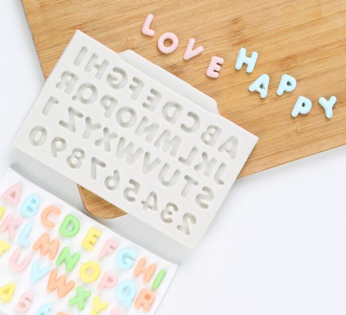 Инструменты для торта, маленькие буквы алфавита, милая детская силиконовая форма, украшение кексов, топперов, шоколадной мастики, помадки, и...