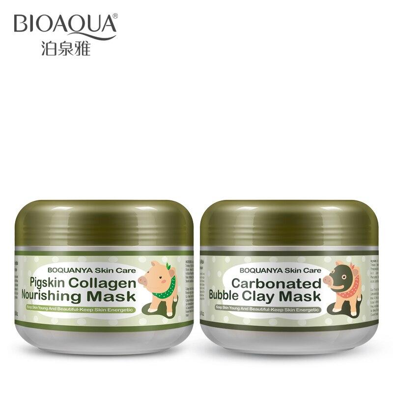BIOAQUA 2PCS/lot little Pig Pigskin Collagen Nourishing Mask