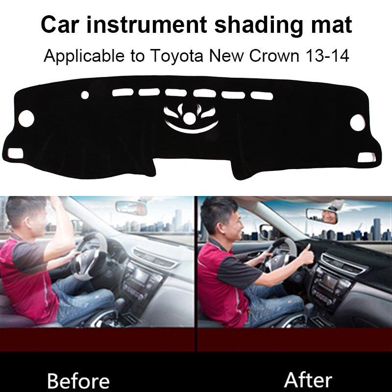 Покрытие приборной панели войлочная ткань черный коврик для приборной панели запчасти для грузовиков Солнцезащитная Накладка для машины коврик для приборной панели коврик для Toyota Crown 2013