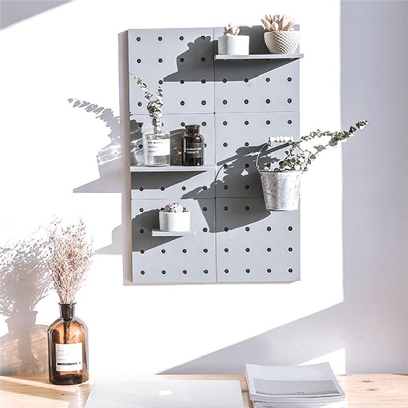 Bedroom Wall Shelf DIY Original Wood Beads Storage Shelf