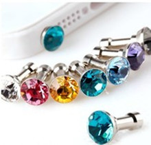 hot deal buy suef 5 piece universal  diamond dust plug mobile phone accessories gadgets earphone enchufe del polvo plugs for iphone 5 5s 6 6s