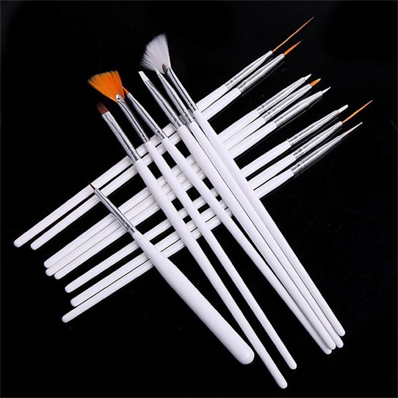 15 st Nail Art Decorations Borste Set Styling Tools Nyaste - Nagel konst