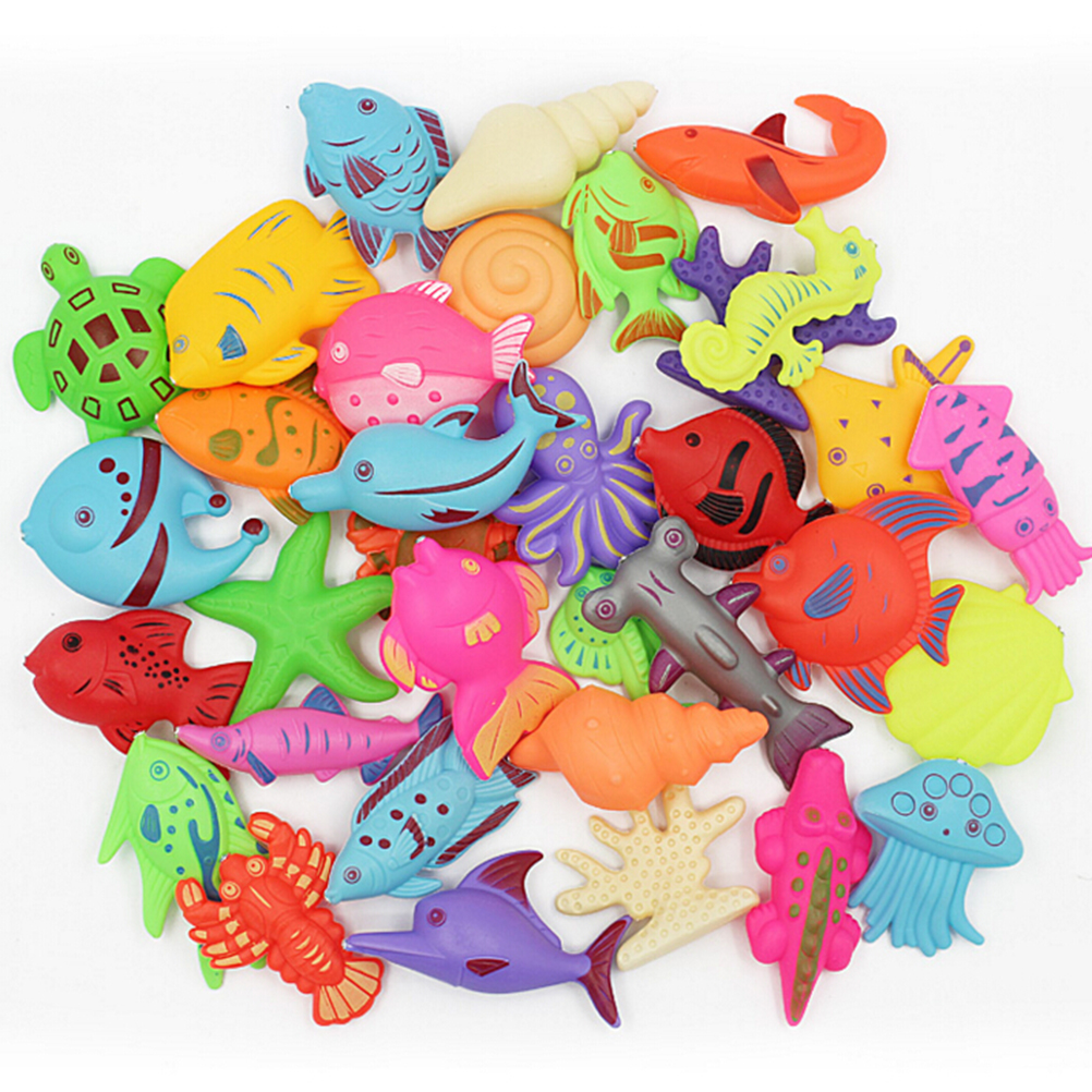 HOT SALES 3PCS/lot Funny Magnetic Fishing Toy Plastic Fishes For Children Educational Toys For Kids Fishing Game Random Style