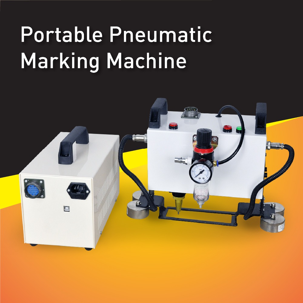 Factory Wholesale Price! Pneumatic Portable Metal Marking Machine,Dot Peen Marking equipment,Hand Held Engraving Tool mp marking machine for nameplate metal machine pin marker dot peen engraving machine for metal parts