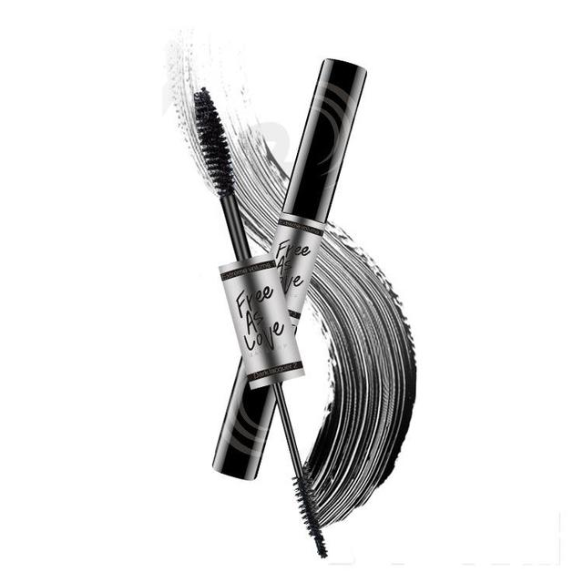 Morixi 2 In 1 Curling Thick Mascara Waterproof Long Lasting 3d Fiber Lashes Mascara With Comb Colossal Eye Cosmetic