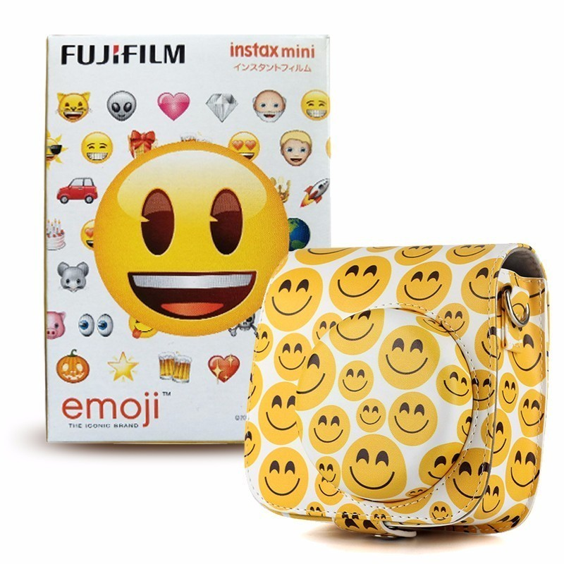 FUJIFILM INSTAX MINI EMOJI film for SP1 SP2 70 25 90 7s 50 lomo plus instant 8 9 Camera case