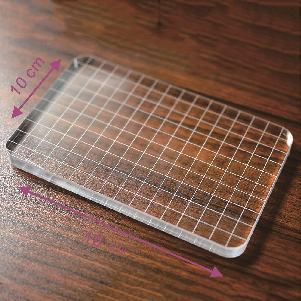 цены DIY Scrapbooking Transparent Clear Stamp Block Acrylic Pad Color Process Essential Tool Tinted Helper