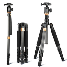 Micro single QZSD Q990C SLR camera tripod carbon fiber tripod kit with panoramic ball head suit