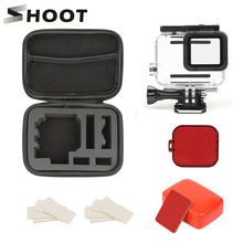 SHOOT 45M Underwater Waterproof Case for GoPro Hero 7 6 5 Black Surfing Diving Accessories Set for Go Pro Hero 6 5 Action Camera lanbeika for gopro hero 6 5 touchbackdoor diving waterproof housing case 45m for gopro hero 6 5 go pro5 gopro6 gopro hero6