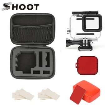 SHOOT 45M Underwater Waterproof Case for GoPro Hero 7 6 5 Black Surfing Diving Accessories Set for Go Pro Hero 6 5 Action Camera
