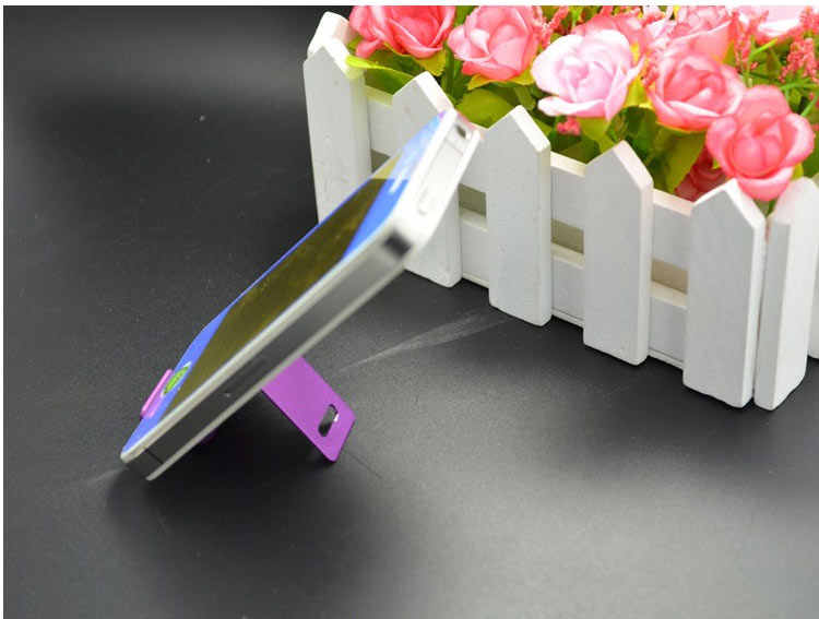 Venta superior 1 piezas soporte de Metal al azar color diablo smiley bracke Universal protector de teléfono celular móvil funda turística para iPhone