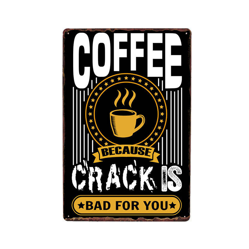 Funny Coffee Quote Saying Best Metal Sign Vintage Poster For Cafe Bar Pub Wall Decor Plates Home Decor 20 30 cm in Plaques Signs from Home Garden