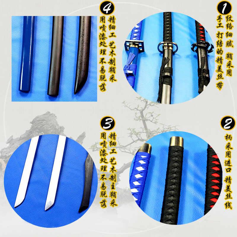 Kiếm gỗ bleach Rukia Kurosaki IchigoKu Nhật Bản katana Cosplay Kiếm gỗ lưỡi dao vũ khí Cosplay Đạo Cụ chất lượng Cao