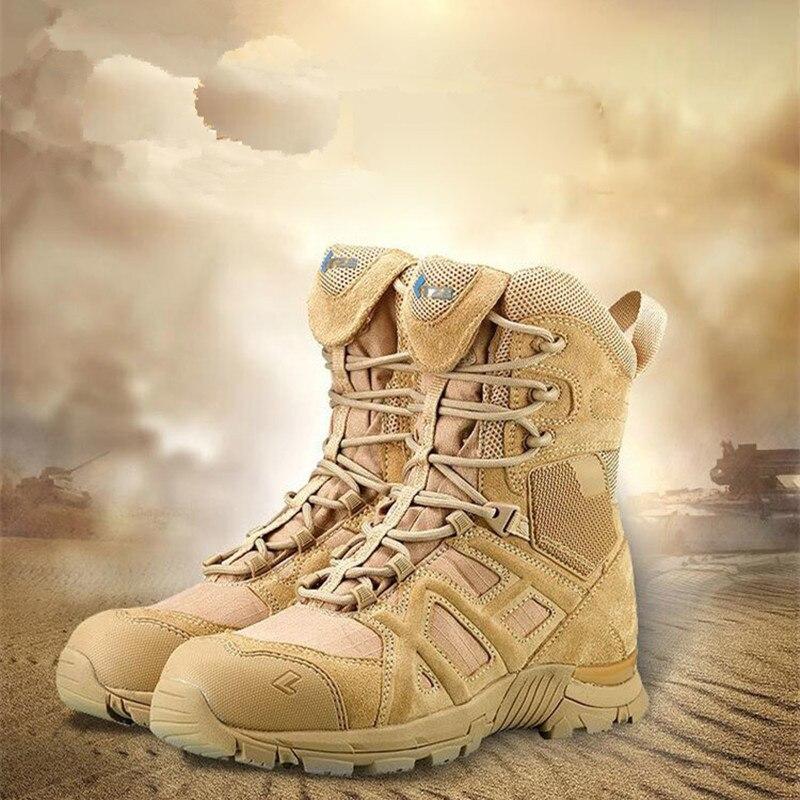 Tactique militaire hommes désert cuir chaussures en plein air randonnée chasse formation Camping escalade antidérapant sport masculin Trekking bottes