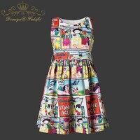 2018 Summer Brand Children Clothing Girl Kid Dress Summer Kids Clothes 2018 Brand Princess Dress Print
