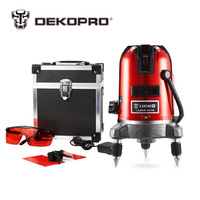 DEKOPRO 5 Lines 6 Points Laser Level 360 Vertical & Horizontal Rotary Cross Laser Line Leveling Can Be Used w/ Outdoor Receiver