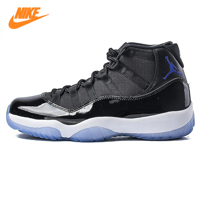 buy popular c3861 498bf NIKE Air Jordan 11 Space Jam AJ11 Men Basketball Shoes, Black, Shock  Absorption Non Slip Abrasion Resistant 378037 003-in Basketball Shoes from  Sports ...