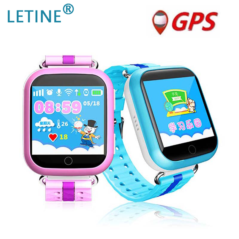 Letine Smart Baby Watches Q100 Q750 <font><b>Smartwatch</b></font> Watch Phone WiFi Touch Clock with GPS and Phone Function for Children <font><b>Kids</b></font> PK <font><b>Q90</b></font> image