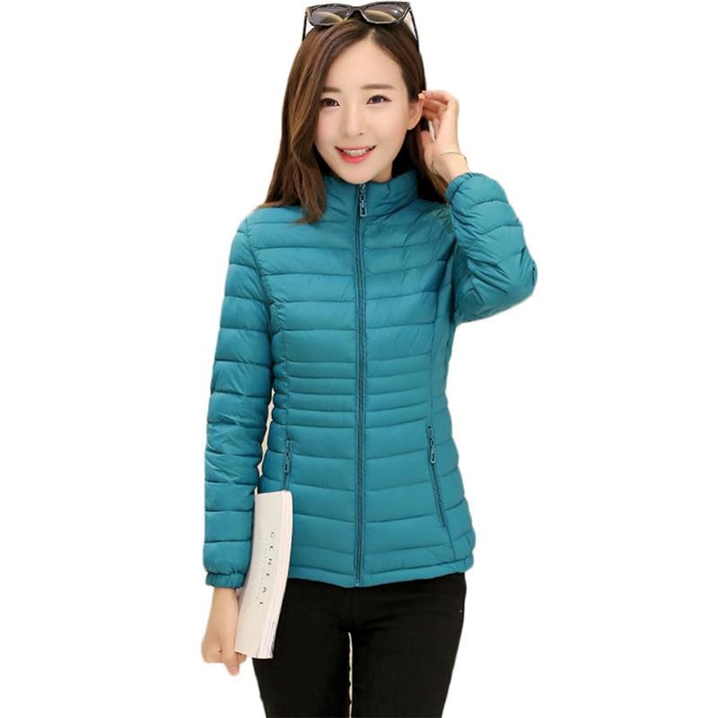 2017 Fashion Spring Autumn Short Jacket Women Parka Coat Padded Cotton Jacket Outwear Female Overcoat Warm 9 Color Plus Size