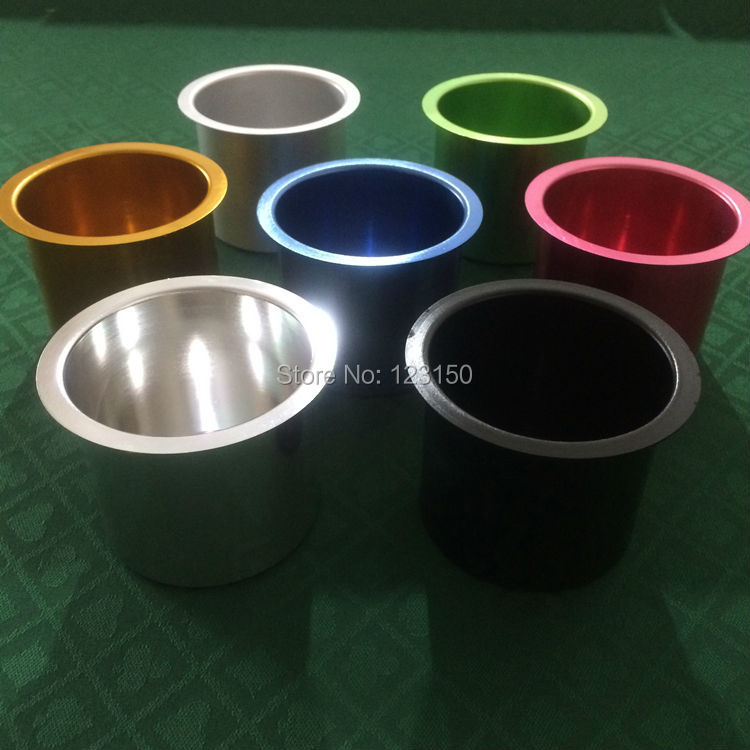TA 107 Aluminum Cups In Seven Colors, Professional Casino Drop In Poker  Table Cup Holder In Gambling Tables From Sports U0026 Entertainment On  Aliexpress.com ...