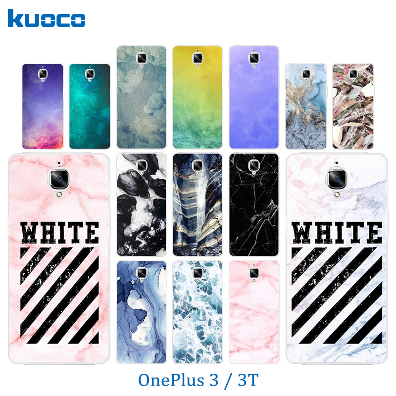 Phone Case for OnePlus 3 / 3T Case A3000 Color Stone Pattern Protective Back Cover for One Plus 3 Fundas OnePlus3 T Coque Bags