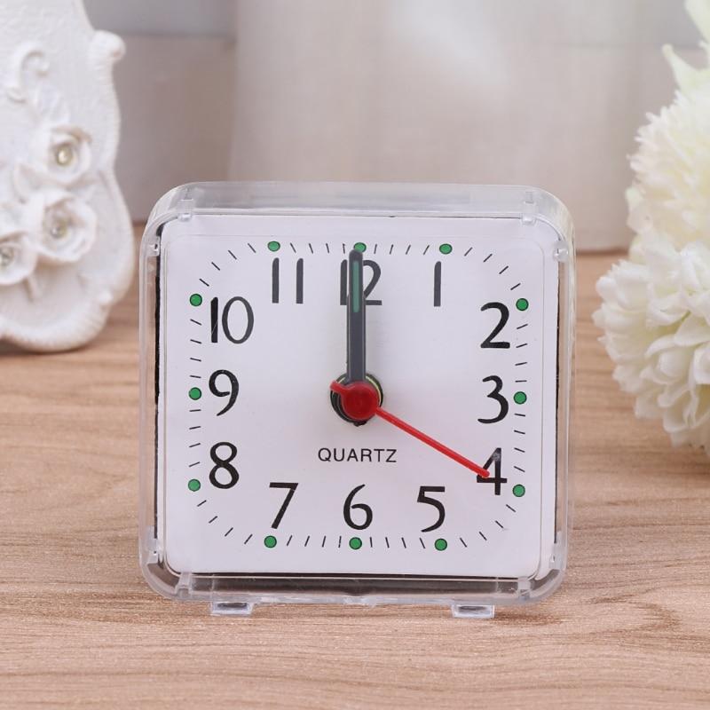 2017 New Mini Square Quartz Beep Alarm Clock Plastic Desk Table Travel Trip Portable reloj despertador