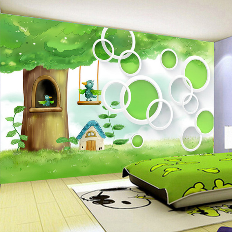 Kids Bedroom Tree kids bedroom tree photo wall paper cartoon children throughout ideas
