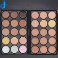Profession 15 Colors Contour Face Powder Cream Makeup Set Base Maquiagem Foundation Concealer Palette 1PC Wood Brush 5 chooses