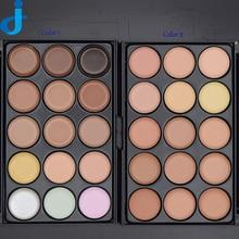 Profession 15 Colors Contour Face Powder Cream Makeup Set Base Maquiagem Foundation Concealer Palette 1PC Wood Brush 5 chooses