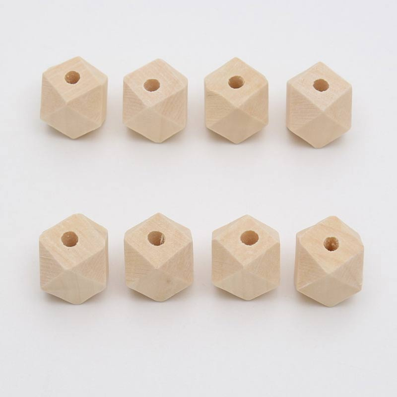 Natural Wooden Spacer Beads Octagon Eco Friendly Loose Wood Bead DIY Crafts supplies Jewelry Making Accessories in Garment Beads from Home Garden