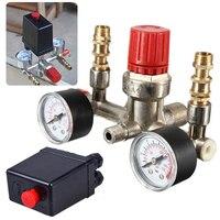 240v Switch Control Adjustable Pressure Switch Air Compressor Switch Pressure Regulating Valve Set With 2 Press