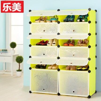 Simple Shoe Storage Cabinet Ikea Folding Plastic Resin Sheet Diy Magic Dust Modern Minimalist