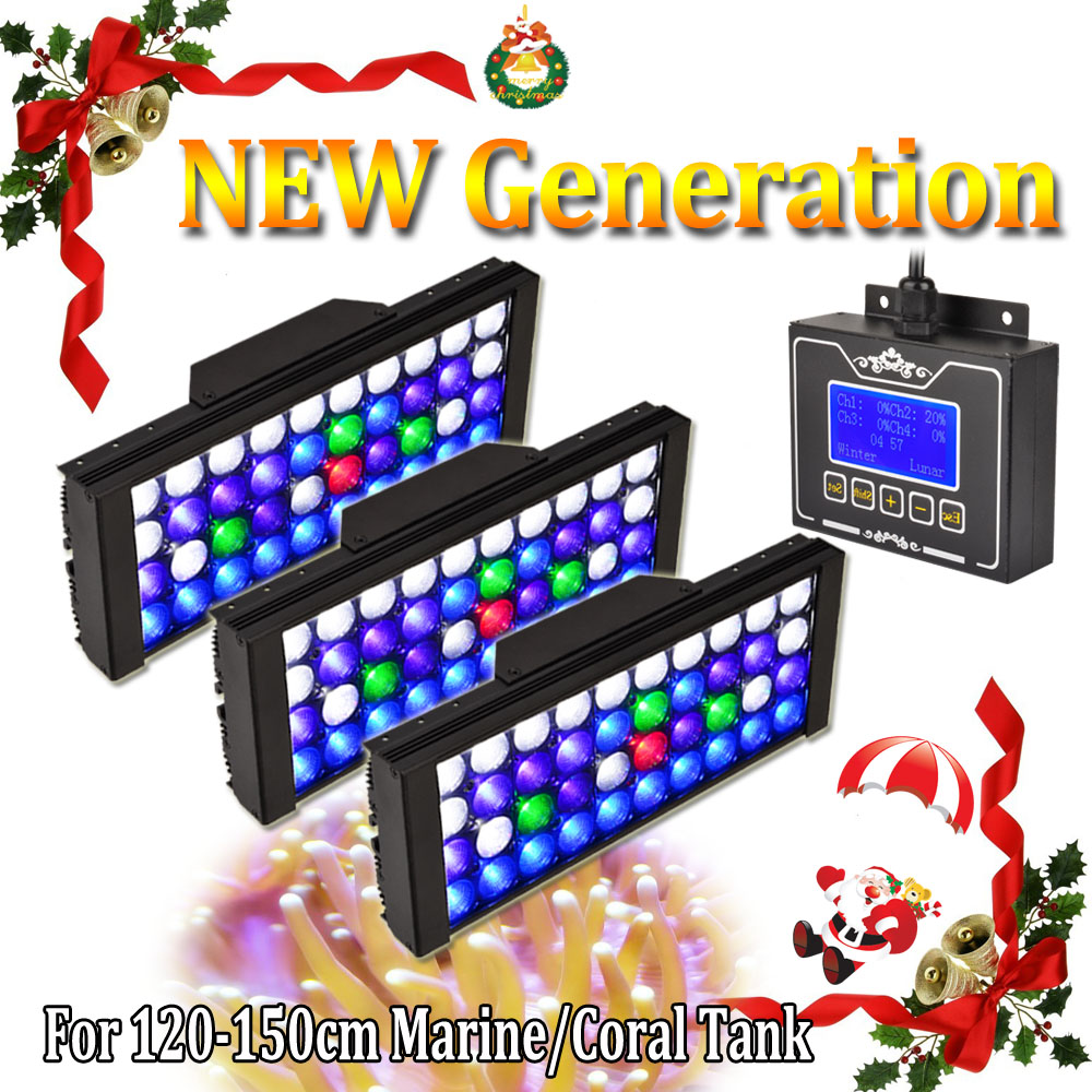 3 pz DSunY Aqua 165 w Programmabile Dimmerabile LED Full Spectrum Grow Carro Armato di Pesci di Barriera Corallina Luce Dell'acquario Alba Tramonto
