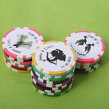 Free Shipping 100pcs Personalized Favors And Gifts Poker Chip