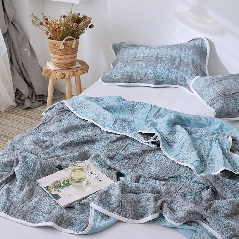 Home Decor Cotton Blankets For Beds Anti Pilling Soft Bed Linens Summer Quilt Single Double Twin Queen Size Blankets in Blankets from Home Garden