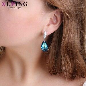Image 5 - 11,11 Xuping серьги капли с кристаллами Сваровски, элегантные ювелирные изделия для девушек и женщин, изысканный подарок