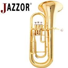 JAZZOR JZEU-300 Профессиональный euphonium B плоский золотой лак латунный духовой инструмент с мундштуком и чехол