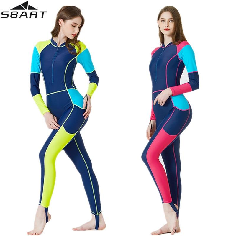 цена на Women's Lycra Wetsuit Surf One Piece Swimsuit Female Long Sleeve Diving Suit Slim Snorkeling Swimming Swimwear Ladies Wet Suit