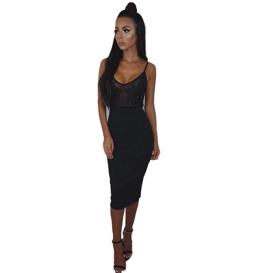 2018 Modern Atrractive Cool Womens Night Out Lace Bodycon Dress Ladies Transparent Woman Dress Vestidos Fofos