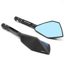 Universal Motorcycle CNC Rearview Blind Spot Side Mirror Moto Rear View For Kawasaki Z250 Z750 Z800 Z100 NINJA 300 ER6N