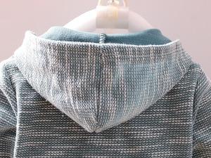 Image 5 - Эксклюзивная одежда для маленьких мальчиков, платье с капюшоном для мальчиков, джентльменский осенний костюм, Детская осенняя школьная одежда