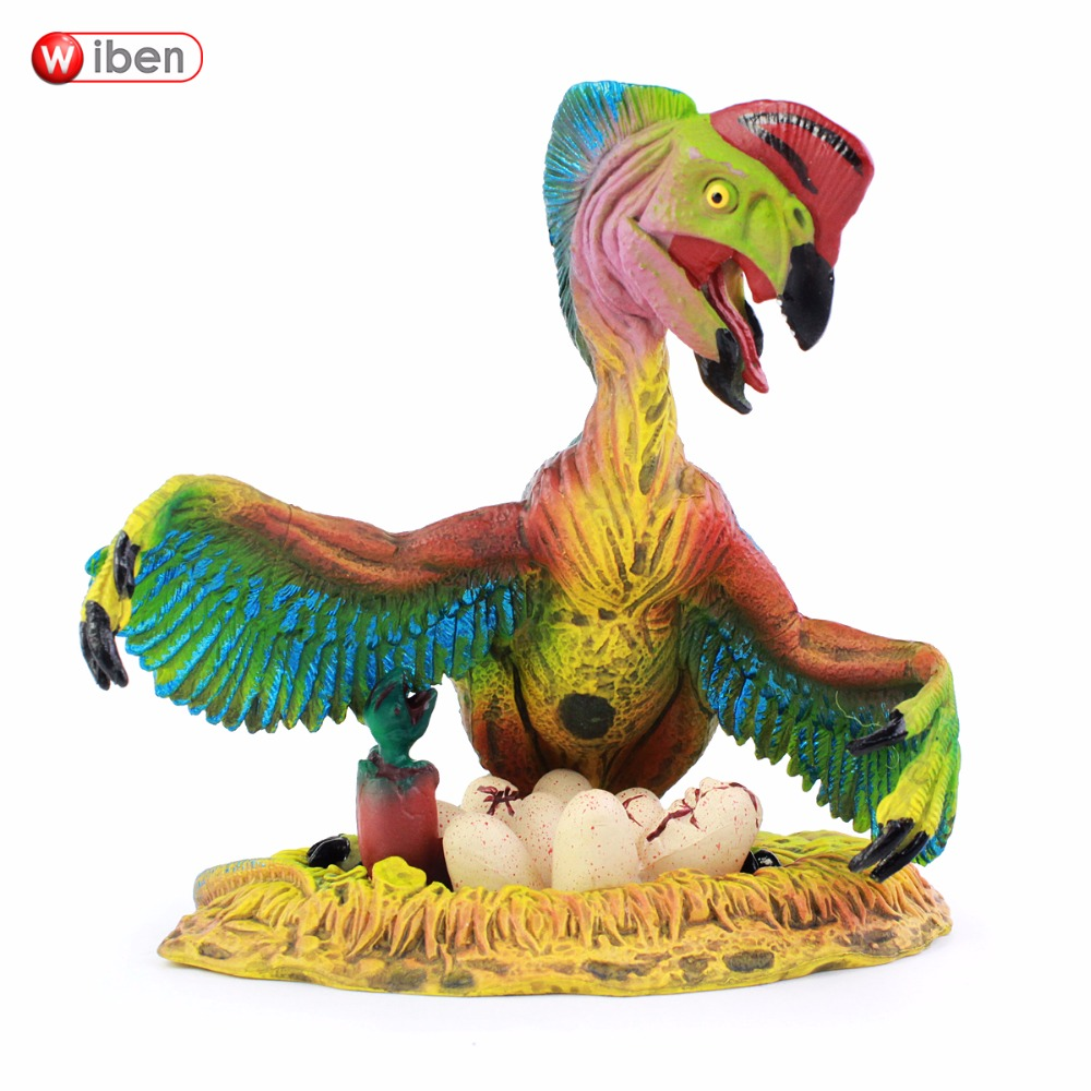 Wiben Jurassic Oviraptor Dinosaur Toys Action Figure Animal Model Collection Learning & Educational Children Toy Gifts jurassic velociraptor dinosaur pvc action figure model decoration toy movie jurassic hot dinosaur display collection juguetes