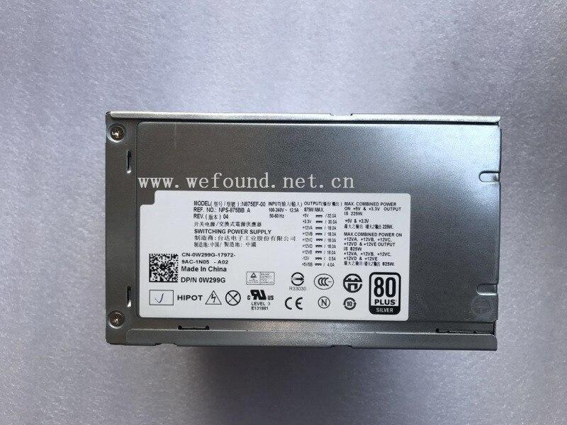100% alimentation électrique Pour N875EF-00 H875EF-00 NPS-875BB Un W299G D875E001L J556T T5400 Entièrement testé