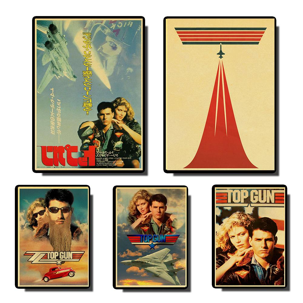 Top Gun Tom Cruise Vintage Posters Prints Wall Painting High Quality Decor Poster Wall Painting Home Decoration
