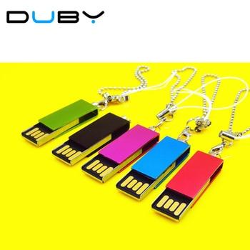 Giratorio Unidad Flash USB super mini Tarjeta de Memoria del Palillo del Pulgar/impermeable llave Del Coche/Pendrive U Disco